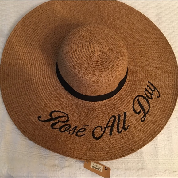 """4138f11a NWT """"Rose All Day"""" brown straw hat. NWT. M_5cfc7850bb22e3bdb7592e54.  M_5cfc7852d1aa2503f3972393. M_5cfc78547f617fad68f352d9"""